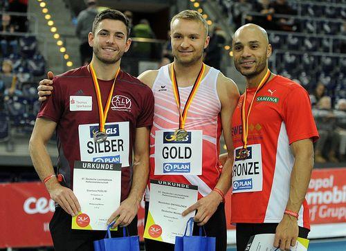Erster DM-Tag in Leipzig endete mit zwei Medaillen für den HLV - Gianluca Puglisi Vizemeister im Weitsprung , Lisa Mayer als Dritte über 60 Meter zurück in der Erfolgsspur